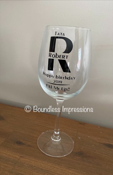 Custom Design Wine Glass