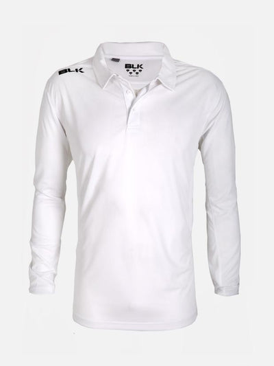 Blk Cricket Ls Polo