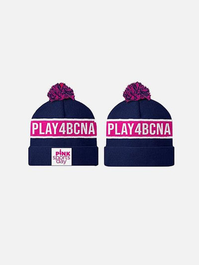 Pink Sports Day Play4Bcna Beanie Navy Accessory