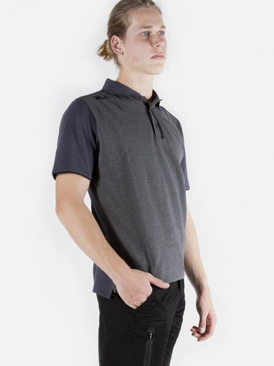 Lifestyle Polo Mens Charcoal