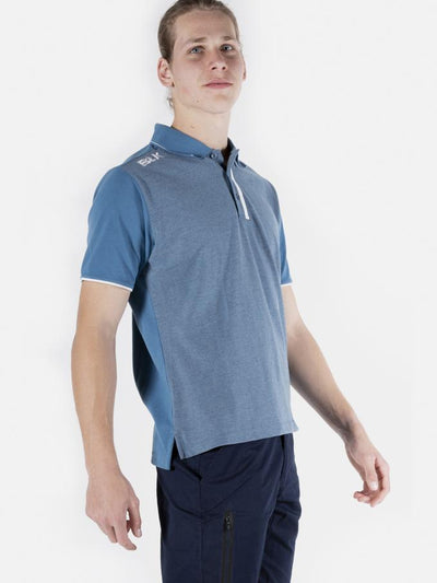 Lifestyle Polo Mens Denim Blue