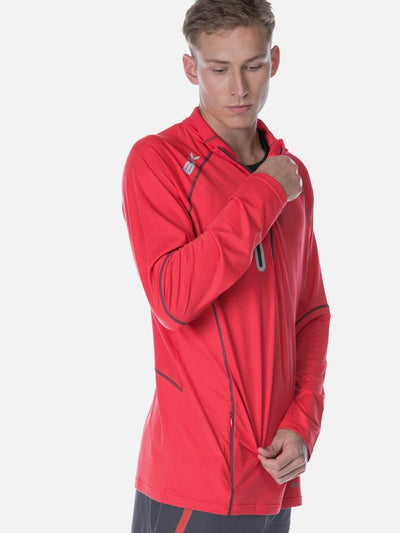 Performance Mens Warm Up Top Red Tee