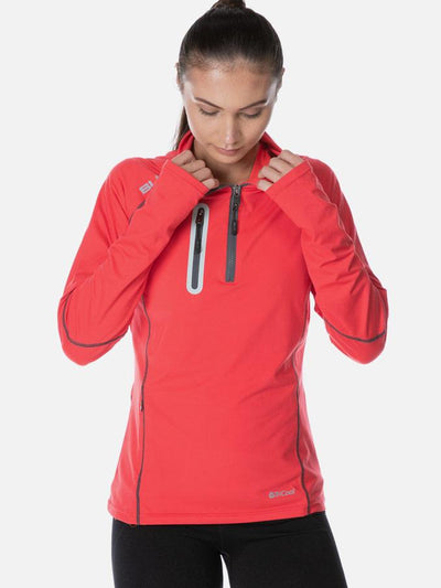 Performance Ladies Warm Up Top Red Tee