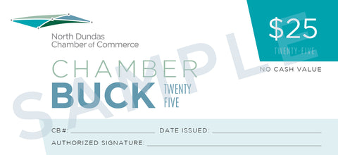 North Dundas Chamber of Commerce Bucks