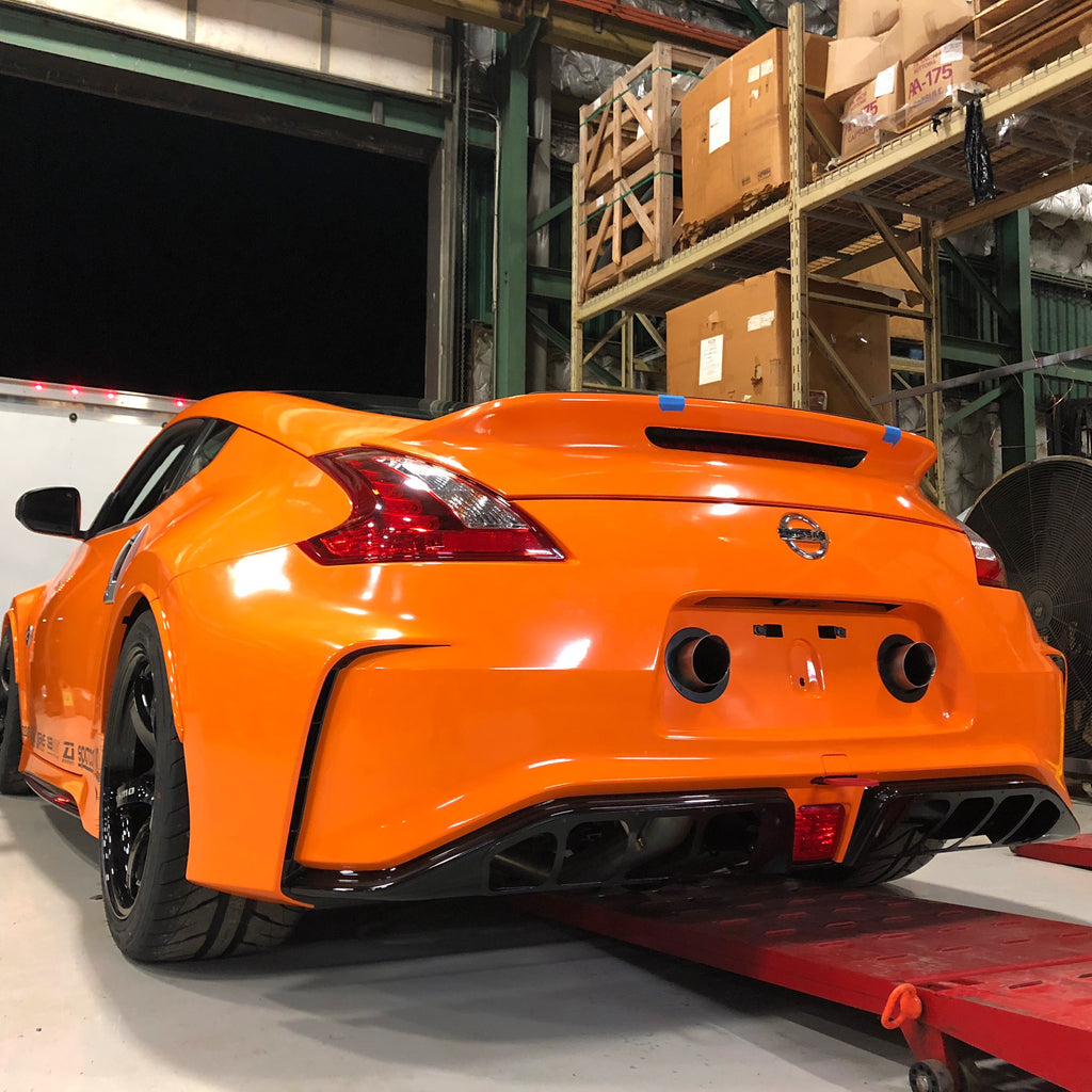 Clubsport 370Z exhaust rear end