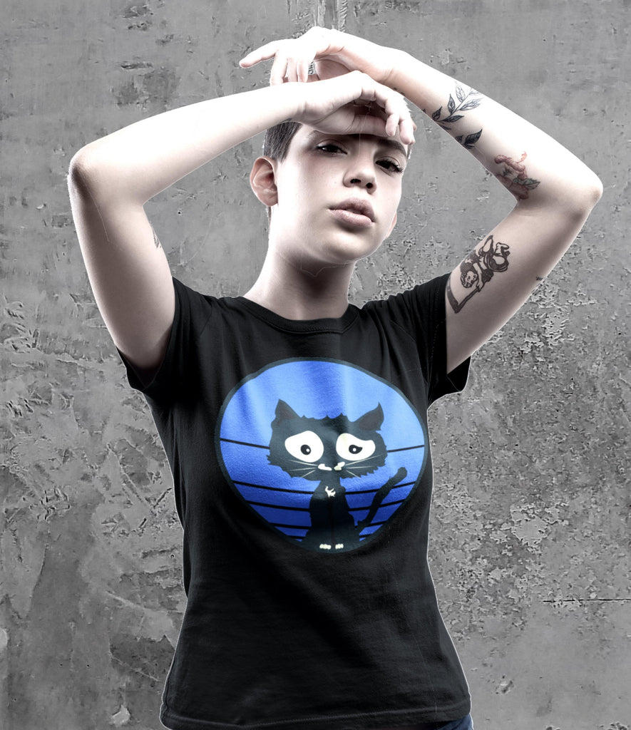 Stonedrockz.de Blue Cat Unisex Short Sleeves Tee | Unisex T-Shirt