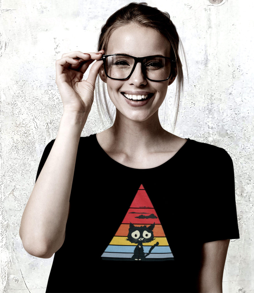 Triangle Cat - T-Shirt -stonedrockz.de