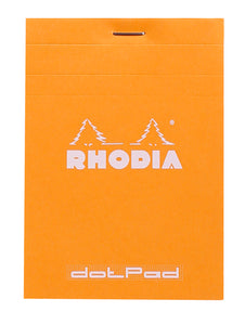Rhodia Dot Grid Stapled Pad - ORANGE