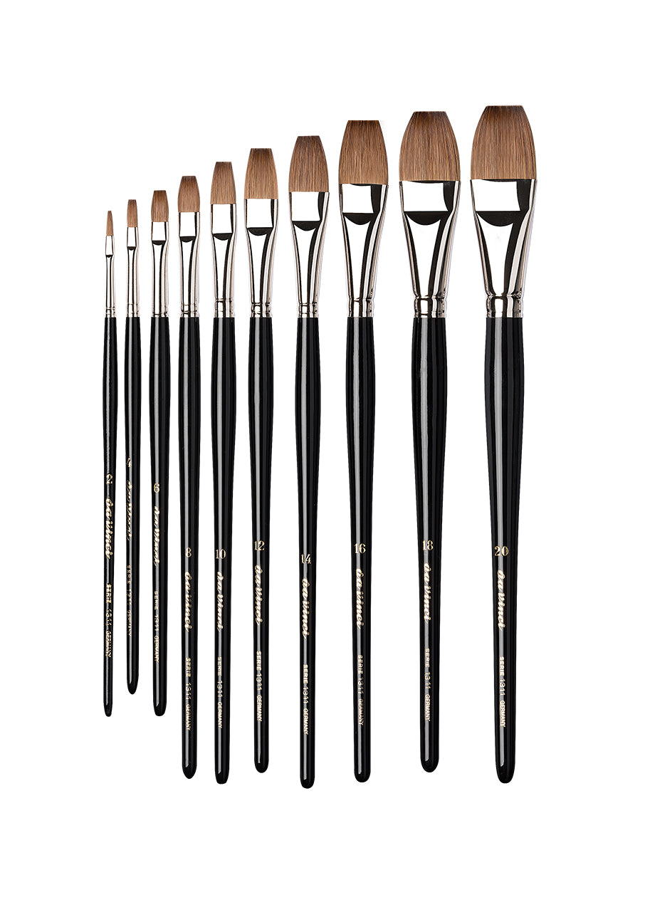 Da Vinci MAESTRO Series 1311 Kolinsky Sable One Stroke Brushes