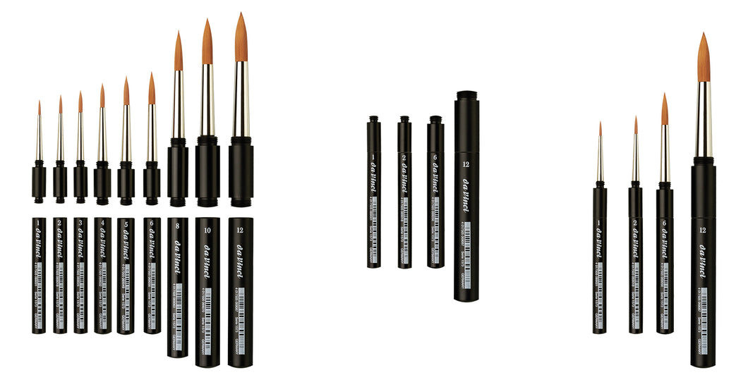 Da Vinci Series 1573 Synthetic Travel Brushes