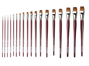 Da Vinci Series 1810 Kolinsky Red Sable Flat Brushes