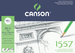 Canson 1557 Cartridge Pads - 120gsm