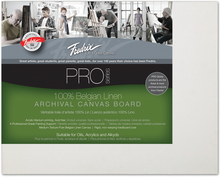 Load image into Gallery viewer, Fredrix Pro Series Linen Canvas Boards