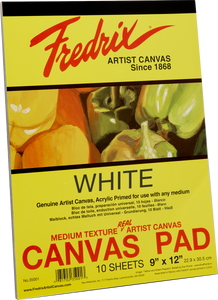 Fredrix Canvas Pads (White Primed)