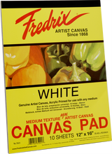 Load image into Gallery viewer, Fredrix Canvas Pads (White Primed)
