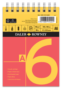 Daler Rowney Red & Yellow Smooth Cartridge Spiral Pad