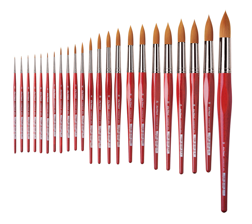 Da Vinci COSMOTOP-SPIN Series 5580 Synthetic Round Brushes