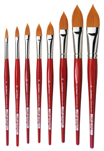 Da Vinci COSMOTOP-SPIN Series 5584 Synthetic Filbert Brushes