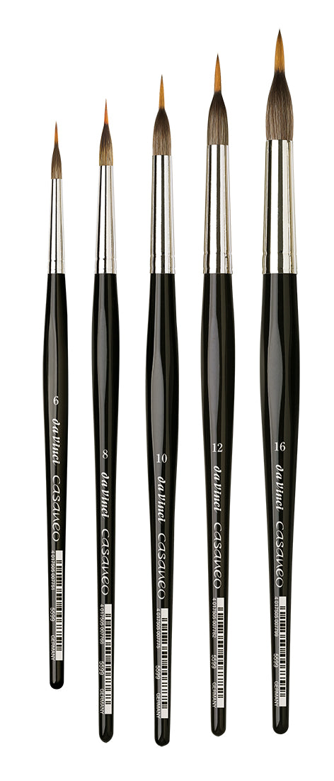 Da Vinci CASANEO Series 5599 Synthetic Liner Round Brushes