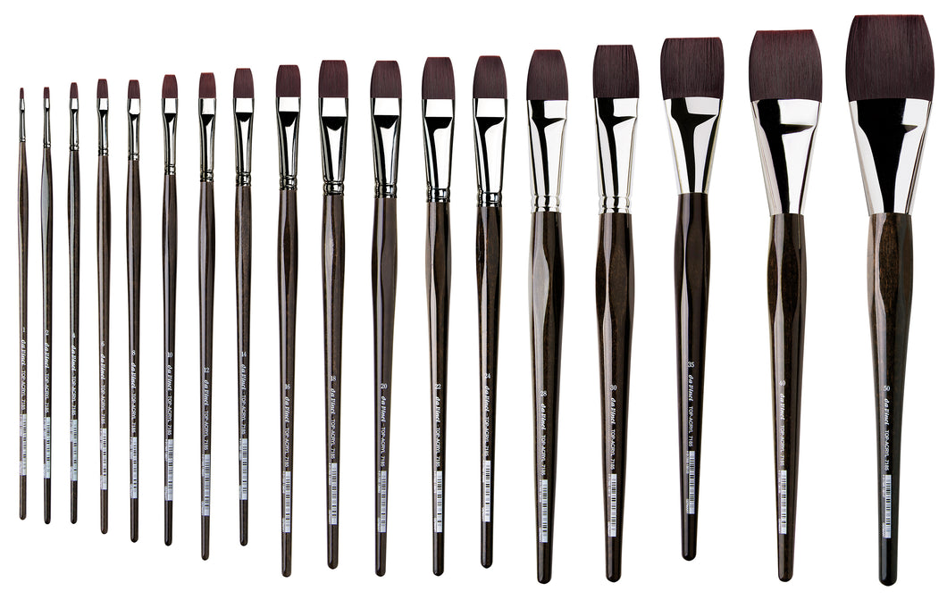 Da Vinci TOP-ACRYL Series 7185 Synthetic Flat Brushes
