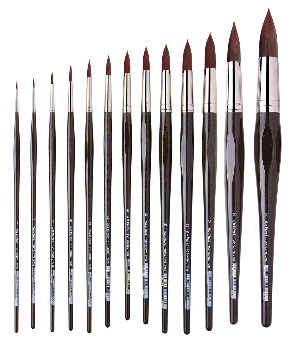 Da Vinci TOP-ACRYL Series 7785 Synthetic Round Brushes