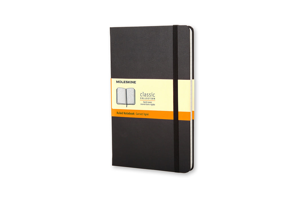 Moleskine Classic Hard Cover Notebook - BLACK