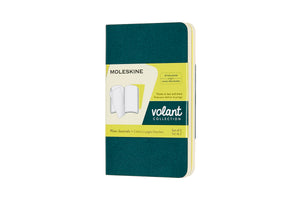 Moleskine Volant Journals - PINE GREEN/LEMON YELLOW
