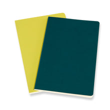 Load image into Gallery viewer, Moleskine Volant Journals - PINE GREEN/LEMON YELLOW