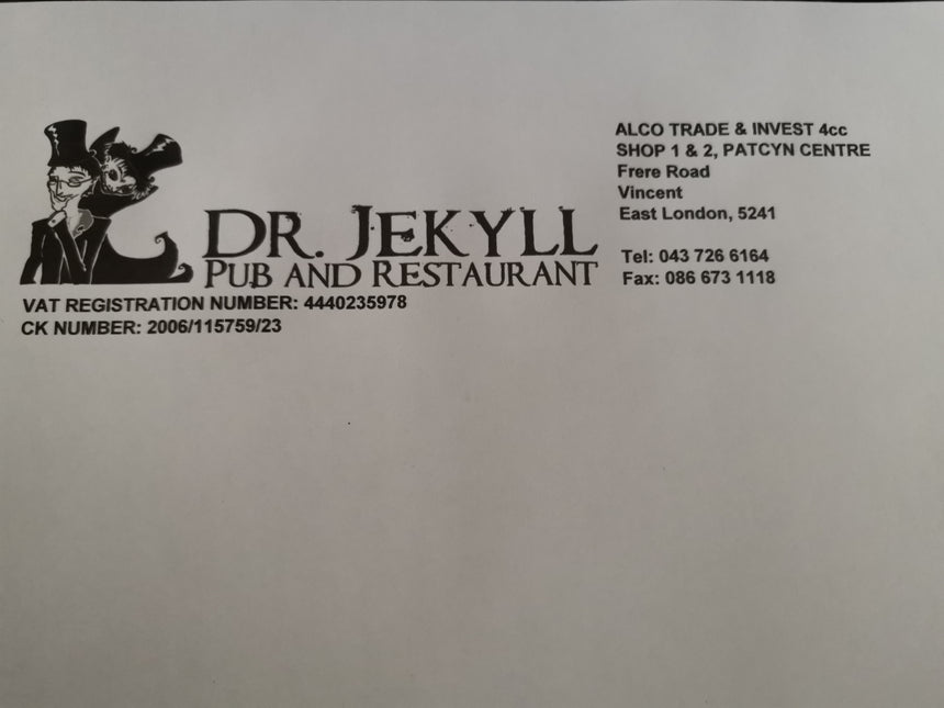 Dr Jekyll's Pub & Restaurant (East London/Eastern Cape) - Top Up