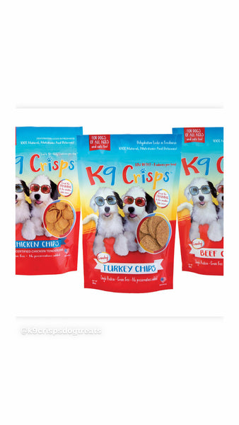 Why do dogs love our K9Crisps doggie chips are low in fat and calories!