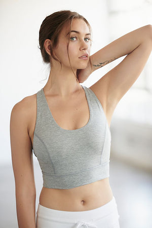 Free People Movement Synergy Crop- Heather Grey