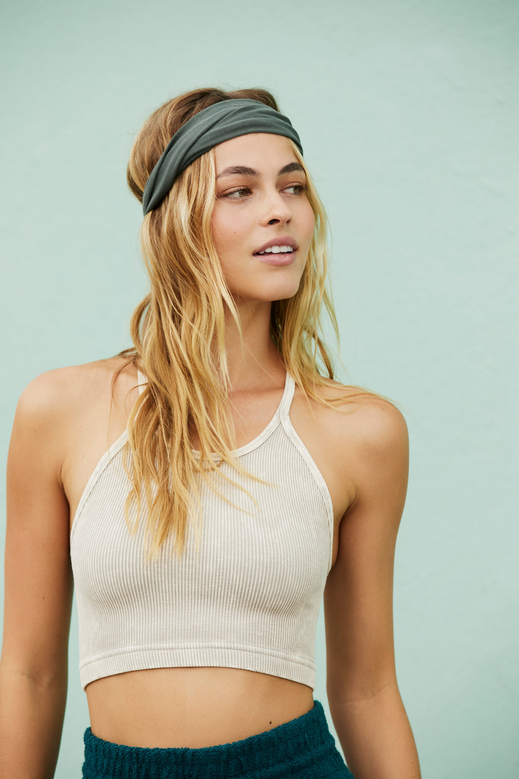 Free People Movement Cropped Run Tank - Sandshell