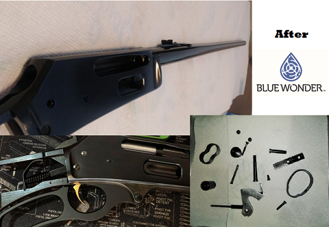Marlin 336 Rifle Components Refinished with Blue Wonder Gun Blue
