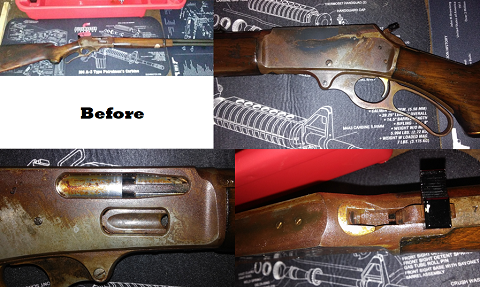 Fire-Damaged Marlin 336 Rifle -- Before