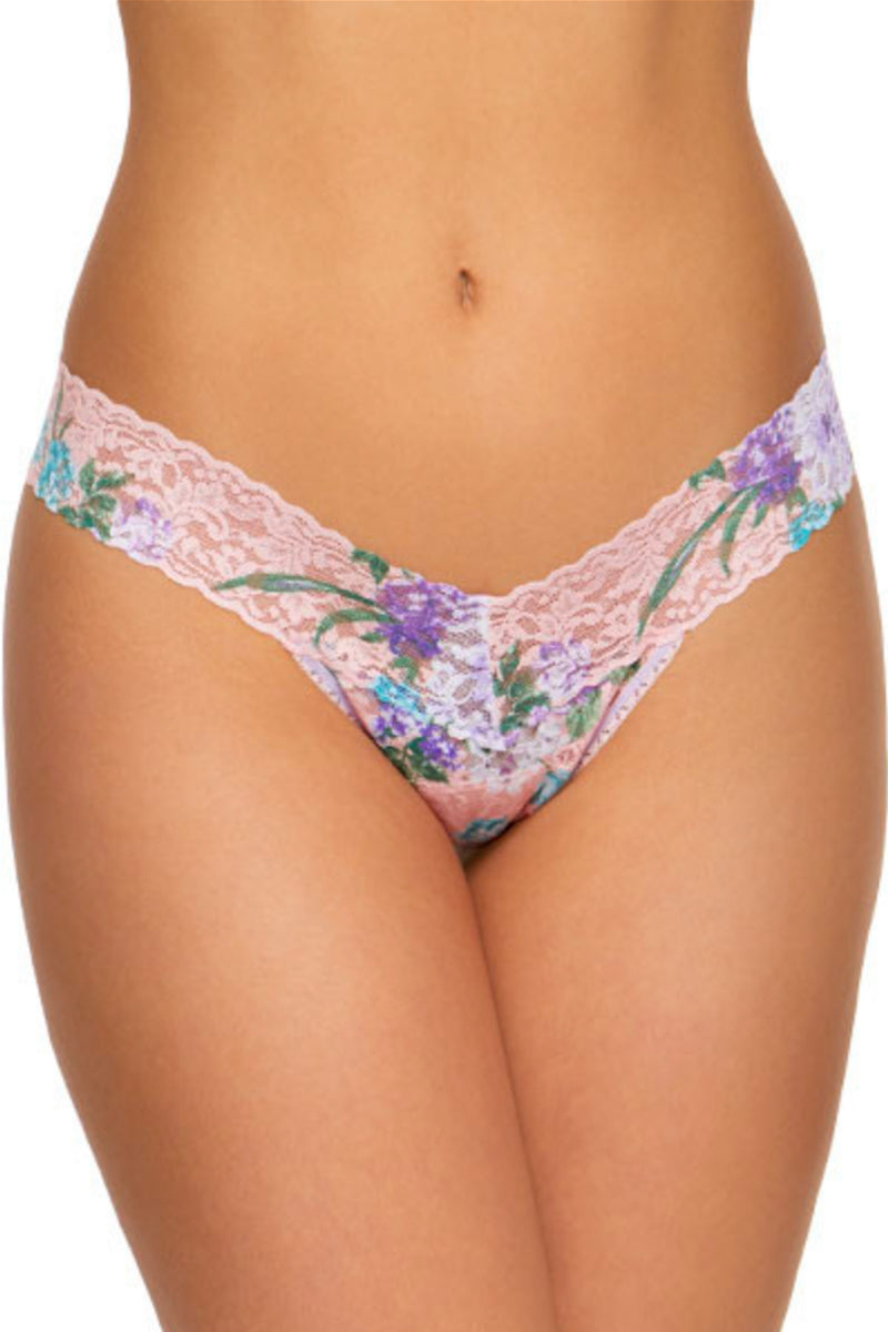 Ashley Floral Low Rise Thong