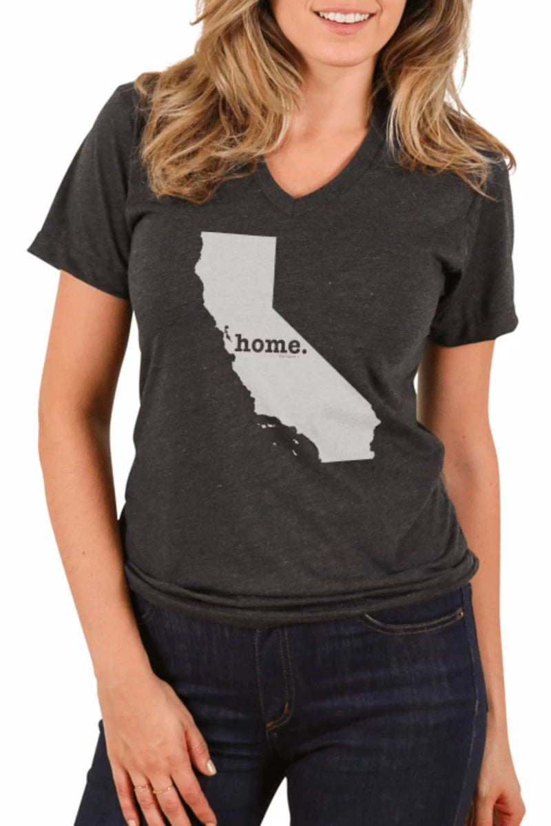 California V-Neck Graphic Tee