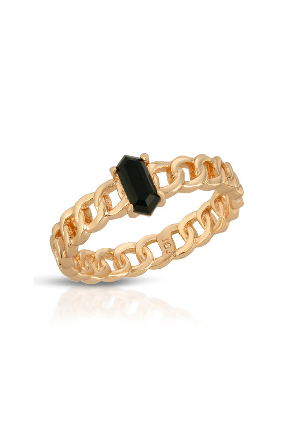 Chainlink Stone Ring