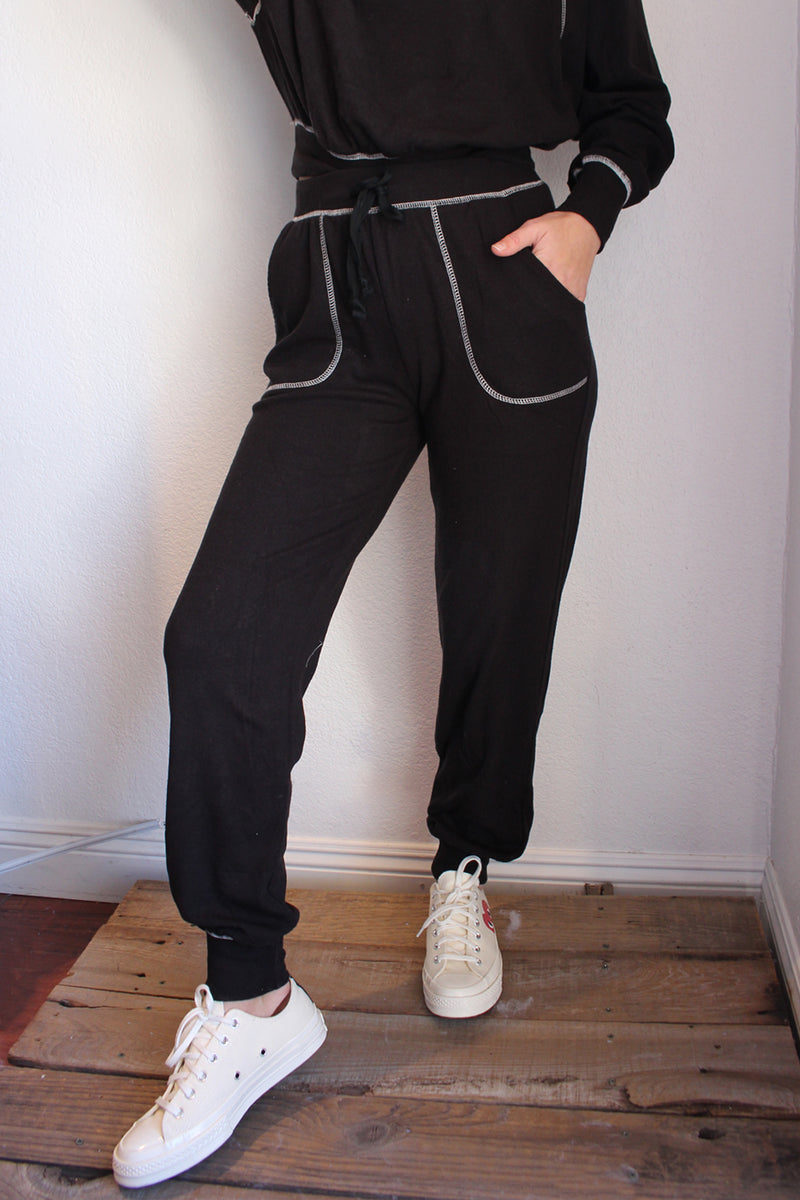Contrast Stitch Jogger