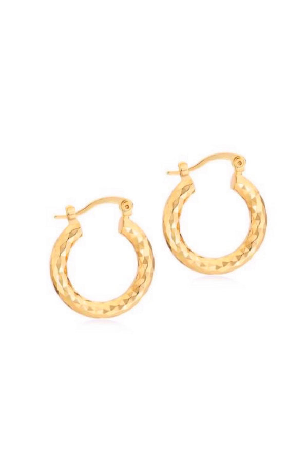 Evie Hammered Hoops
