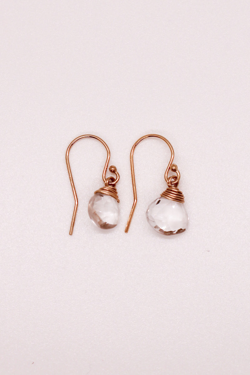 Solo Stone Clear Quartz Earrings