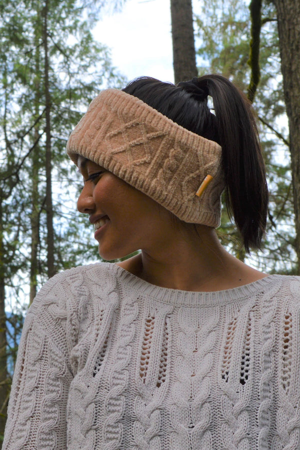Chenille Cable Knit Headband