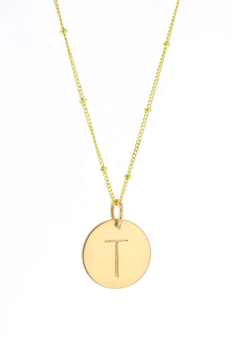 Mini Initial Tag Necklace