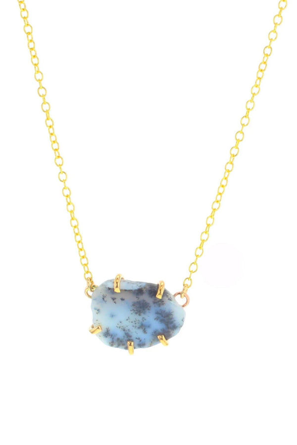 Palisade Dendritic Opal Necklace