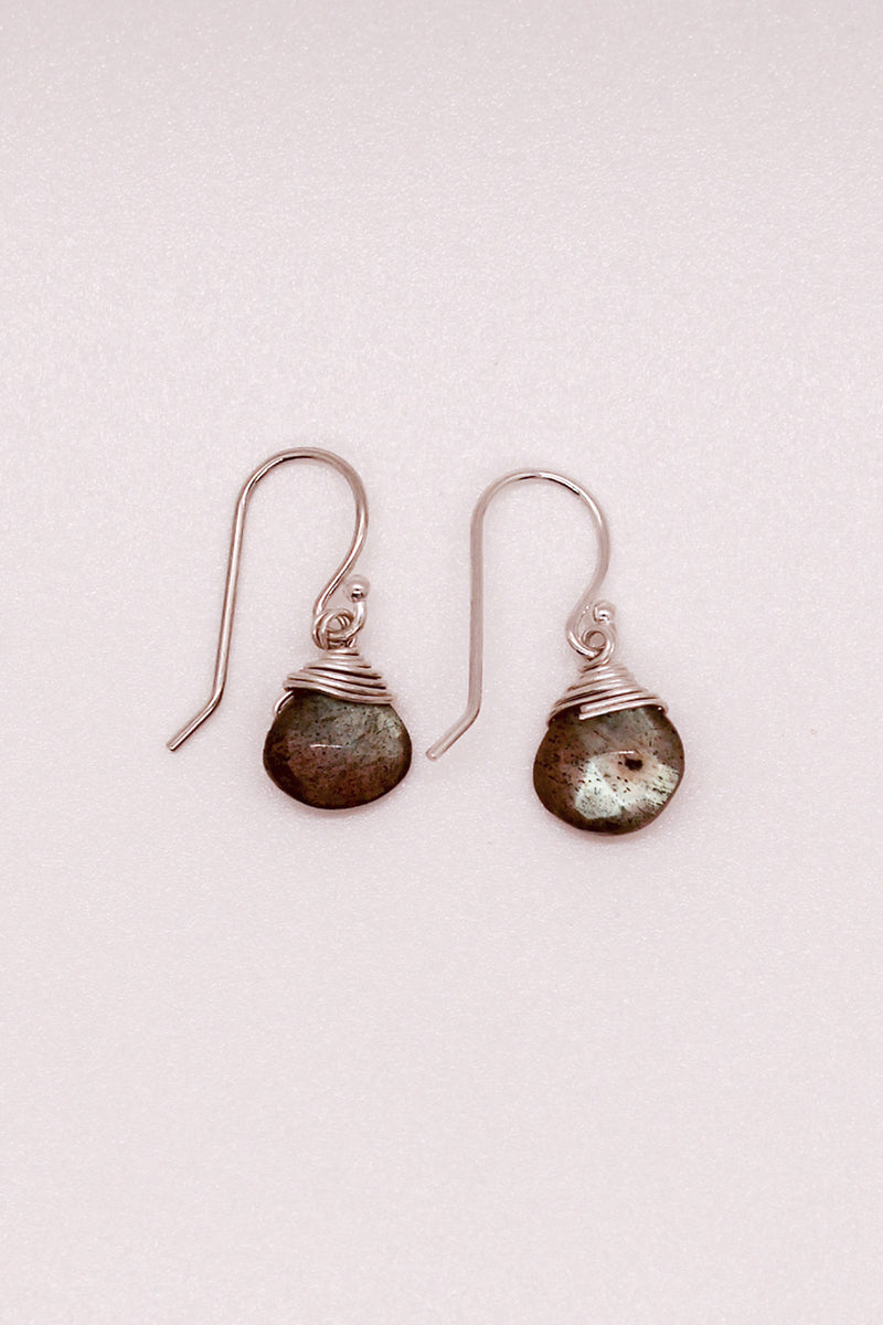 Solo Stone Labradorite Earrings
