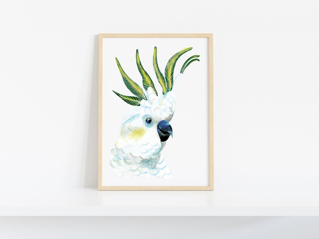 THE WHITE COCKATOO - LIMITED EDITION PRINT