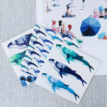 Load image into Gallery viewer, SET OF THREE - HUMP BACK WHALE CARDS