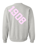 Alpha Kappa Alpha Anchor Crewneck Sweatshirt (Grey)