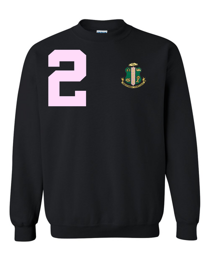 Alpha Kappa Alpha Anchor Crewneck Sweatshirt (Black)