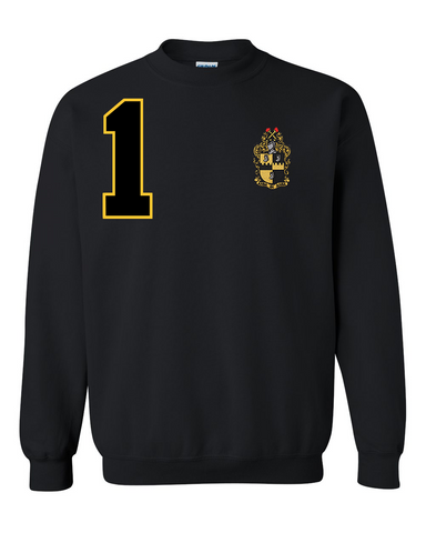 Alpha Phi Alpha Anchor Crewneck Sweatshirt (Black)
