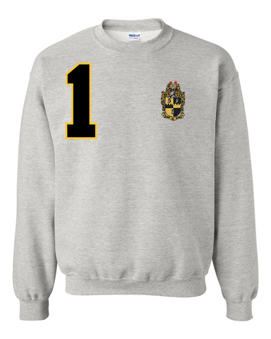 Alpha Phi Alpha Anchor Crewneck Sweatshirt (Grey)
